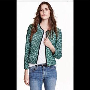 H&M Green Patterned Jacket